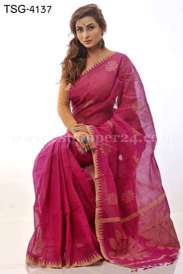 Picture of Handwork Cotton Saree - TSG-4137