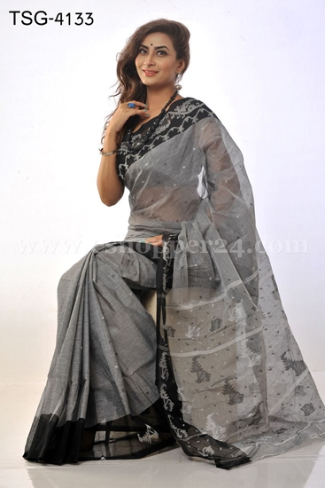 Picture of Jamdani Cotton Saree - TSG-4133