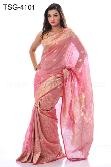 Picture of Half Silk Saree - TSG-4101