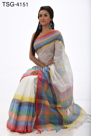 Picture of Cotton Saree - TSG-4151