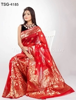 Picture of Half Silk Saree - TSG-4185