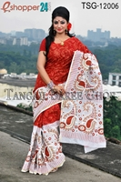 Picture of Hand Print Cotton Kuta Saree - TSG-12006