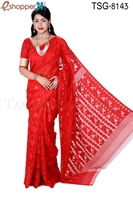 Picture of Moslin Silk Jamdani Saree - TSG-8143
