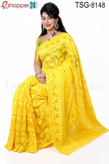 Picture of Moslin Silk Jamdani Saree - TSG-8148