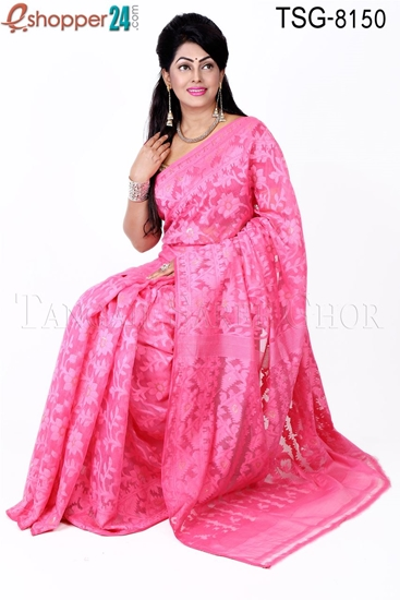 Picture of Moslin Silk Jamdani Saree - TSG-8150