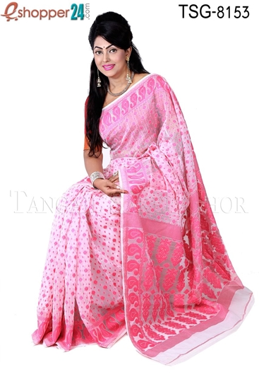 Picture of Moslin Silk Jamdani Saree - TSG-8153