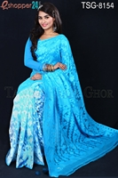 Picture of Moslin Silk Jamdani Saree - TSG-8154