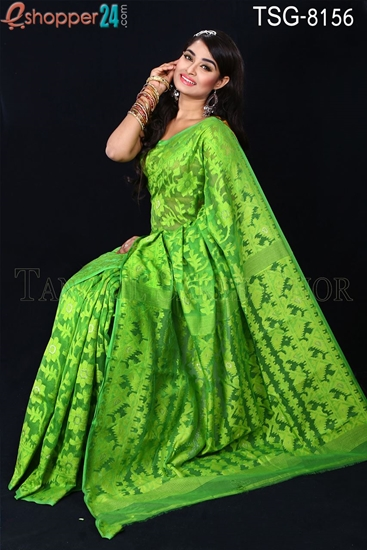 Picture of Moslin Silk Jamdani Saree - TSG-8156