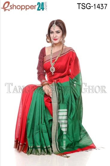 Picture of Silk &Cotton Mixed Saree - TSG-1437