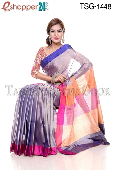 Picture of Silk & Cotton Mixed Saree - TSG-1448