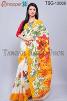 Picture of Hand Print Cotton Kuta Saree - TSG-12008