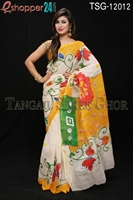 Picture of Hand Print Cotton Kuta Saree - TSG-12012