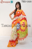 Picture of Hand Print Cotton Kuta Saree - TSG-12020