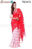 Picture of Soft Moslin Jamdani Saree - TSG-8172