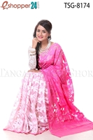 Picture of Soft Moslin Jamdani Saree - TSG-8174