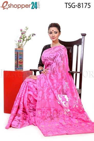 Picture of Soft Moslin Jamdani Saree - TSG-8175