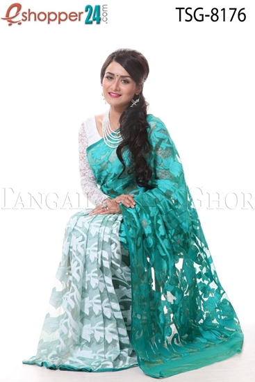 Picture of Soft Moslin Jamdani Saree - TSG-8176