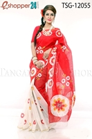 Picture of Hand Print Cotton Saree - TSG-12055