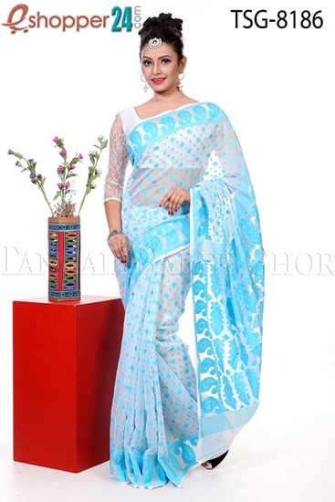 Picture of Soft Moslin Jamdani Saree - TSG-8186