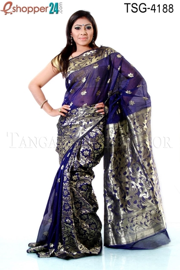 Picture of Half Silk Saree - TSG-4188
