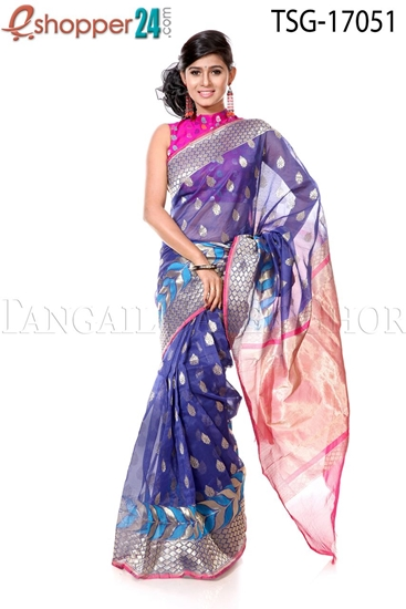 Picture of Tisue Buty Katan Saree - TSG - 17051