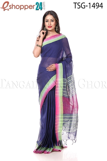 Picture of Snake Skin Cotton Saree - TSG-1494