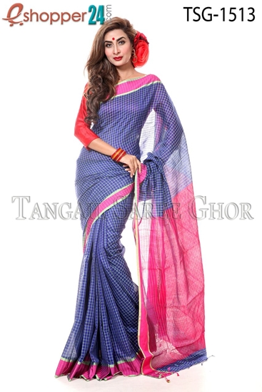 Picture of Silk & Cotton Mixed Saree - TSG-1513