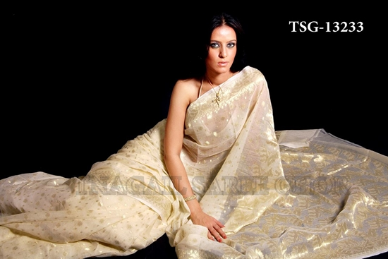 Picture of Moslin Jamdani Saree - TSG - 13233