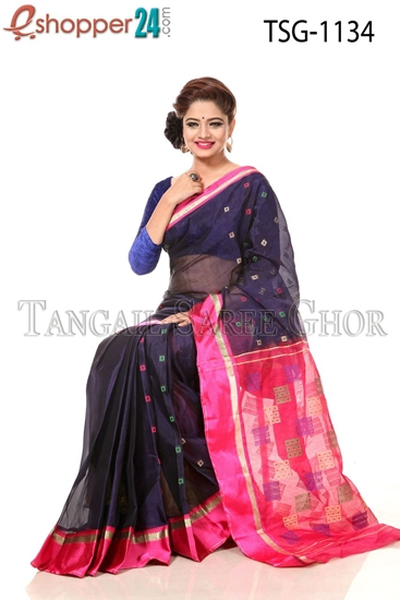 Picture of Half Silk  Saree - TSG-1134