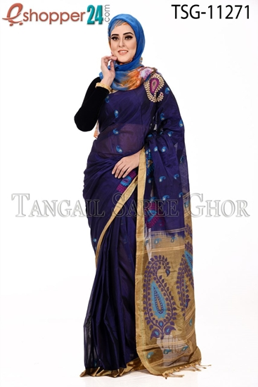 Picture of Half Silk Saree - TSG-11271
