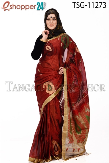 Picture of Half Silk Saree - TSG-11273