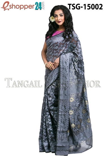 Picture of  Moslin Jamdani Saree - TSG-15002
