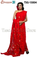 Picture of Moslin Jamdani  Saree - TSG-15004