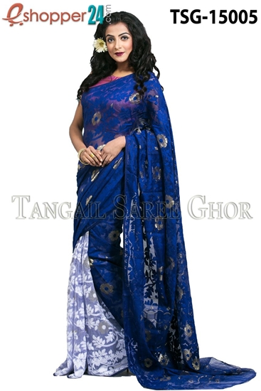 Picture of Moslin Jamdani   Saree - TSG-15005