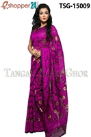 Picture of Moslin Jamdani   Saree - TSG-15009
