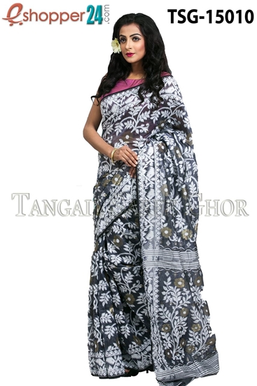 Picture of Moslin Jamdani   Saree - TSG-15010