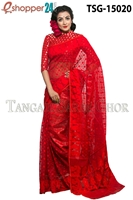 Picture of Moslin Jamdani   Saree - TSG-15020