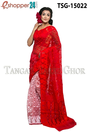 Picture of Moslin Jamdani   Saree - TSG-15022