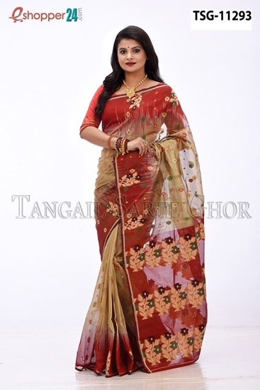 Picture of Half Silk  Saree - TSG-11293