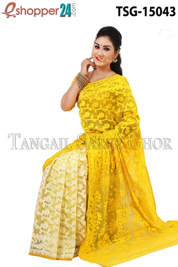 Picture of Moslin Jamdani   Saree - TSG-15043