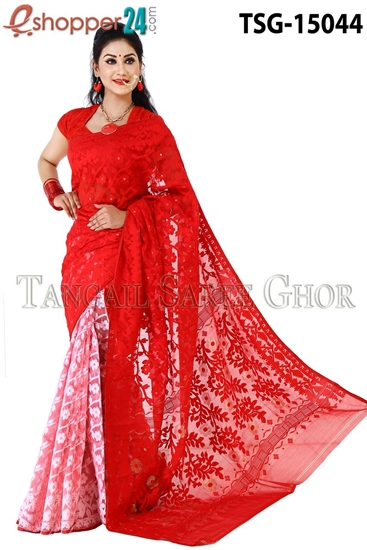 Picture of Moslin Jamdani   Saree - TSG-15044