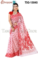 Picture of Moslin Jamdani   Saree - TSG-15045
