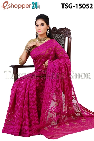 Picture of  Moslin Jamdani   Saree - TSG-15052