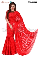 Picture of Mosline jamdani Saree - TSG-11299