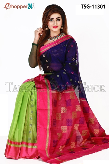 Picture of Half  Silk  Saree - TSG-11301