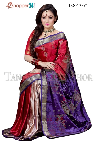 Picture of Pure silk   Saree - TSG-13571