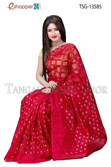 Picture of  Moslin Jamdani  Saree - TSG-13585