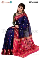 Picture of Half Silk  Saree - TSG-11305