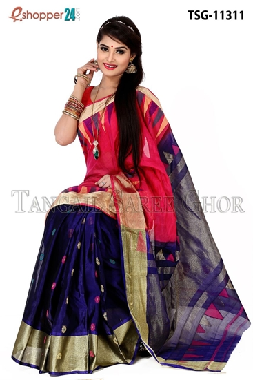 Picture of Half Silk  Saree - TSG-11311