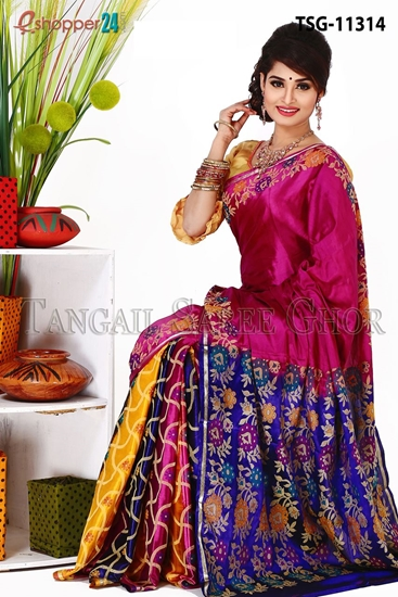 Picture of Pure Silk  Saree - TSG-11314